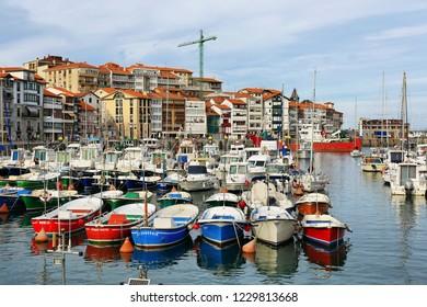 Lekeitio, Spain - October 13, 2018: beautiful fishing village of lekeitio in basque country, Spain