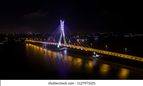 Lekki Ikoyi Link Bridge at Night