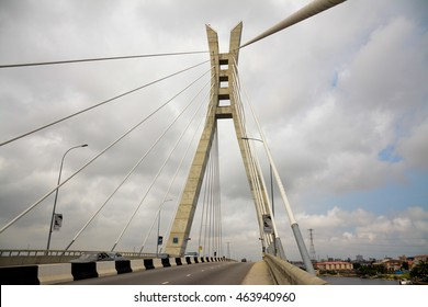 LEKKI LAGOS, NIGERIA - DECEMBER 31, 2015: A bridge at Lekki in Lagos, Nigeria on December 31, 2015