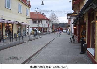 Leksand,Dalarna/Sweden-11.15.2018: A gray autumn day in the small town of Leksand in Dalarna.