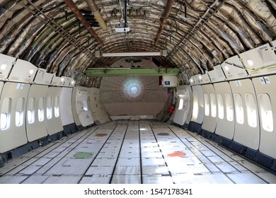 lelystad, Netherlands 31 october 2019; Cargo space of a boeing 747 at the aviodrome museum