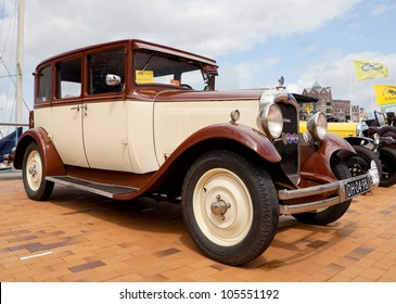 LELYSTAD, THE NETHERLANDS - JUNE 17: A 1928 Citroen AC4 Conduite Interieur on display at the annual National Oldtimer day on June 17, 2012 in Lelystad, The Netherlands