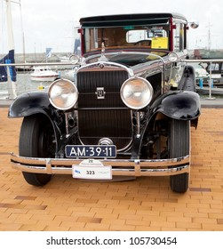 LELYSTAD, THE NETHERLANDS - JUNE 17: A 1928 Cadillac 341 A on display at the annual National Oldtimer day on June 17, 2012 in Lelystad, The Netherlands