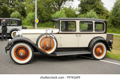 LELYSTAD, THE NETHERLANDS - JUNE 19: A 1929 Ford Model A Town Sedan on display at the annual National Oldtimer day on June 19, 2011 in Lelystad, The Netherlands