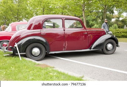LELYSTAD, THE NETHERLANDS - JUNE 19: A 1950 Mercedes-Benz 170S on display at the annual National Oldtimer day, held June 19, 2011 in Lelystad, The Netherlands