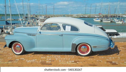 LELYSTAD, THE NETHERLANDS - JUNE 19, 2016: 1941 Buick 46 S on display during the annual National Oldtimer day. Non-ticketed public event held in the streets of the city