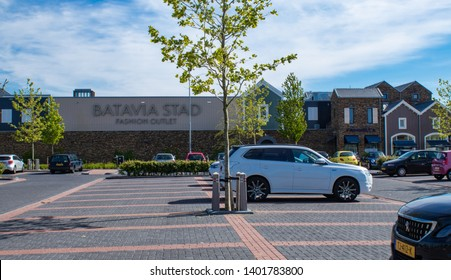 LELYSTAD, NETHERLANDS - MAY 15,2019: Famous fashion and lifestyle international brands shops are concentrated on the shopping center Bataviastad outlet