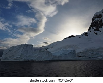 Lemaire Channel Antarctica Sunset