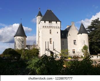 Lemere, Indre et Loire/France - 11/02/2018 : Rivau Castle near Chinon. Castle of the Loire.