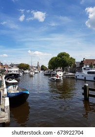 Lemmer Netherlands July 2017, sailing boats at the Harbor of Lemmer