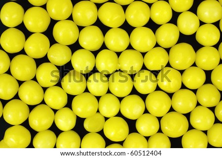 Lemon Candy On Black Background Stock Photo (Edit Now