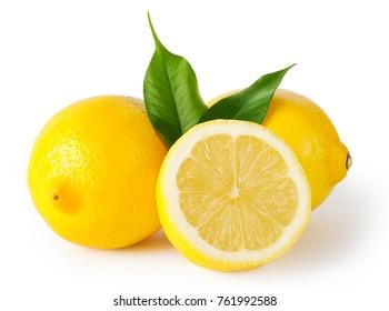Lemon citrus with white background
