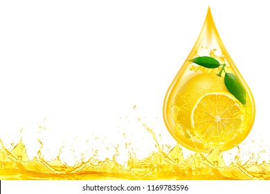 lemon essential oil ,lemon juice