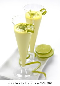 a lemon flavored dessert served in a glass