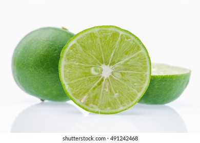 lemon green on white background,