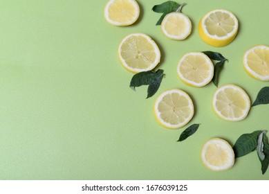 lemon healthy food background stockphoto