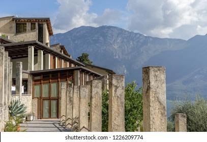 Lemon house in Limone on Lake Garda in Italy