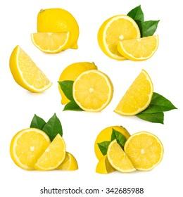 Lemon isolated