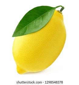 lemon, isolated on white background, clipping path, full depth of field