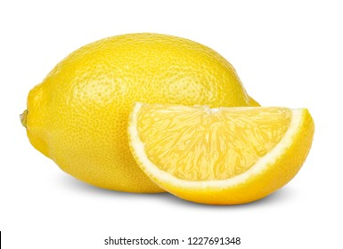 Lemon isolated on  white with clipping path.
