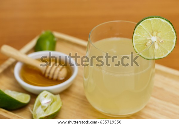 lemon juice with honey syrup