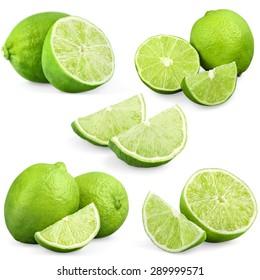Lemon, lime, slice.