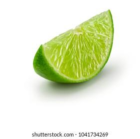 lemon lime white background