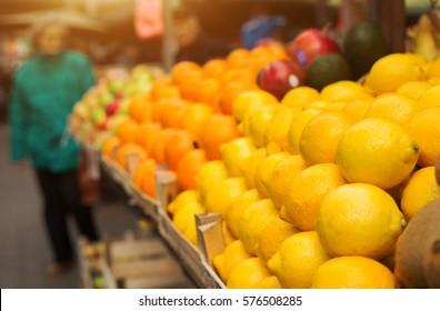 Lemon at marketplace.