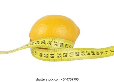 Lemon with measuring tape