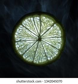 Lemon on a dark background