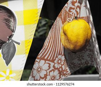 Lemon on display in front of lemonade stand