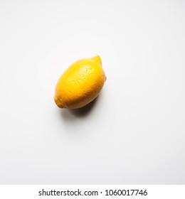 Lemon on a white background.