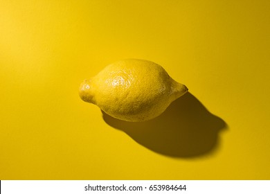 Lemon on yellow