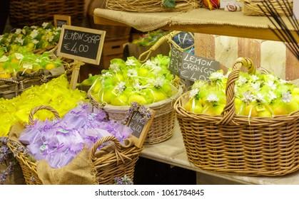 Lemon and Orange Soaps in Sorrento