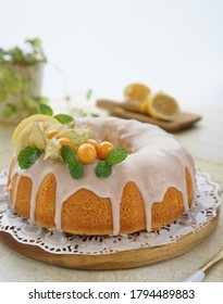 Lemon Pound Cake. Pound Cake, flavored with lemon zest and juice, and drizzled with a tart lemon glaze, this lemon pound cake is the ultimate dessert. The cake can be made in a bundt pan or loaf pans.