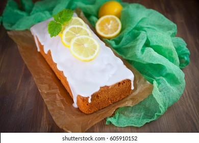 Lemon pound cake with sweet lemon icing