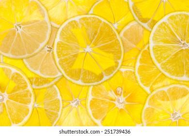 Lemon semitransparent background with back-light.