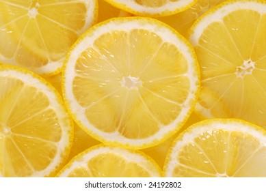 Lemon slice backgound