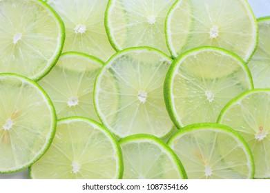Lemon slice background.