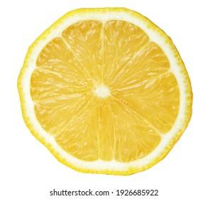 lemon slice, clipping path, isolated on white background