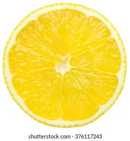 lemon slice, isolated on a white background