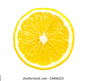 Lemon slice isolated on white