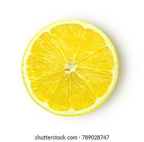 lemon slice isolated on white background