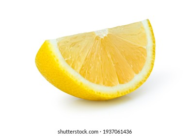 Lemon sliced isolated on white background. Clipping path.