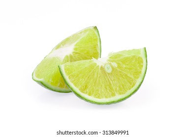 Lemon sliced isolated on white background