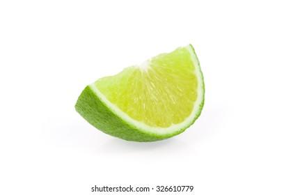 Lemon sliced isolated on white background
