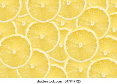 Lemon slices background.