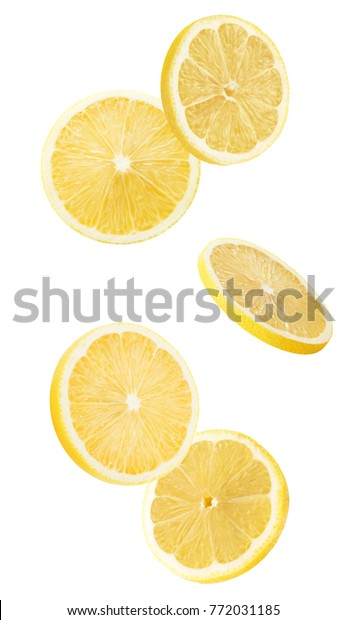 lemon slices isolated on a white background