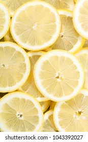 lemon slices in a refreshment photography