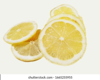 lemon slices with white background